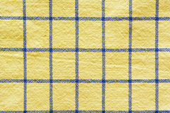 方格的织品黄色 免版税库存照片