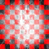 方格的grunge红色 库存图片