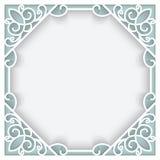 方格纸框架 免版税库存图片