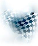 方格背景的蓝色 免版税库存照片
