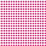 方格花布无缝混合的粉红色 库存照片