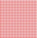 方格花布红色和白色无缝的样式 免版税图库摄影