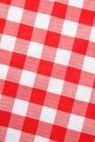 方格花布红色纺织品 免版税库存照片