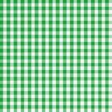 方格花布绿色 免版税库存图片