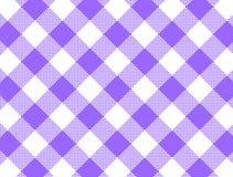 方格花布被编织的JPG紫色 库存照片