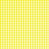 方格花布黄色 免版税库存图片
