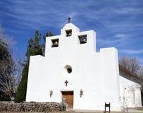 方济会使命教会在Tularosa,新墨西哥 库存照片