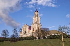 方济会修士教会和修道院在Hrodna 免版税库存图片