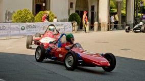 方程式赛车在贝加莫历史的格兰披治2017年 免版税库存图片