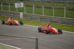 方程式赛车测试在蒙扎 免版税库存图片