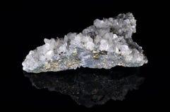 方解石硫铁矿石英 免版税库存照片