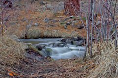 方铅矿小河 库存图片