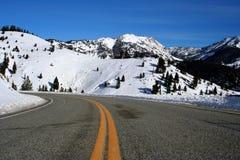 方铅矿山顶冬天 库存图片