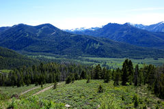 从方铅矿山顶的Sawtooths 免版税图库摄影