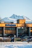 施伦贝格尔办公室在安克雷奇,阿拉斯加 免版税图库摄影