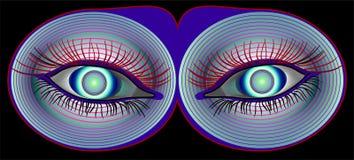 施催眠术视图 免版税库存照片