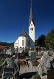 施利尔塞教会和公墓 免版税图库摄影