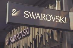 施华洛世奇商店标志4 免版税库存图片
