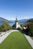 施皮茨城堡,瑞士庭院  库存照片