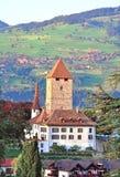 施皮茨城堡,瑞士 库存照片