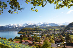 施皮茨,瑞士 库存照片