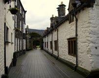 施舍村庄, Llanrwst,威尔士 图库摄影