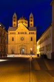 施派尔大教堂在黎明, Pfalz,德国 免版税库存图片