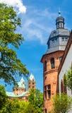 施派尔主教座堂和Pa的历史博物馆的看法 库存照片
