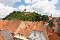 施洛斯山在格拉茨,第二大市奥地利 库存图片
