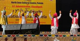 旁遮普人民间音乐和舞蹈 免版税库存照片