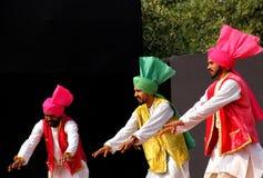 旁遮普人民间音乐和舞蹈 免版税库存图片