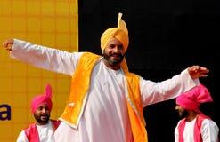 旁遮普人民间音乐和舞蹈 免版税图库摄影