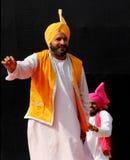 旁遮普人民间音乐和舞蹈 库存图片