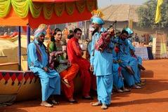 旁遮普人音乐和舞蹈由变性艺术家 免版税图库摄影