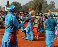 旁遮普人音乐和舞蹈由变性艺术家 免版税库存图片