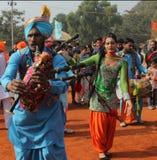 旁遮普人音乐和舞蹈由变性艺术家 免版税库存照片