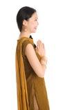旁遮普语的女孩给问候穿衣 免版税库存照片