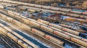旅客列车 免版税库存图片
