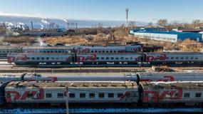 旅客列车 免版税图库摄影