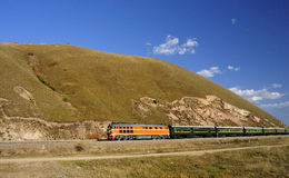 旅客列车 库存图片