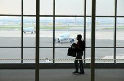 旅客在多伦多皮尔逊机场 免版税库存照片