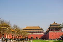 旅客在故宫北京 免版税图库摄影