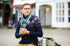 旅客在欧洲 免版税图库摄影