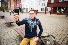 旅客在欧洲 免版税库存图片