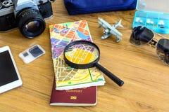 旅客成套装备  免版税库存图片