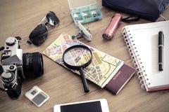 旅客成套装备  免版税库存照片