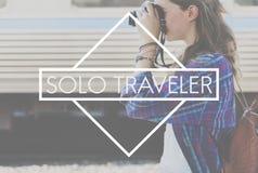 旅客旅行旅行旅途样式概念 库存照片