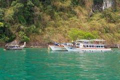 旅客潜航的表面下潜 免版税库存照片