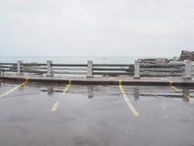 旅客的停车场 免版税库存照片