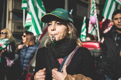 旅游业全国罢工在2013年10月的米兰, 31 库存照片